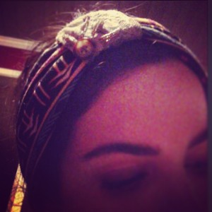 """Rocking my new @bee__lacy headband. You guys should check it out! Www.Beelacy.etsy.com"" — Nikki"
